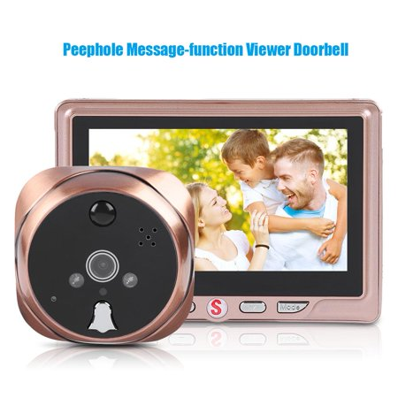 FAGINEY 4.3inch LCD Peephole Message-function Camera Doorbell Electronic Motion Detection Viewer ,Message-function Viewer Doorbell,Peephole Camera Doorbell - image 3 of 8