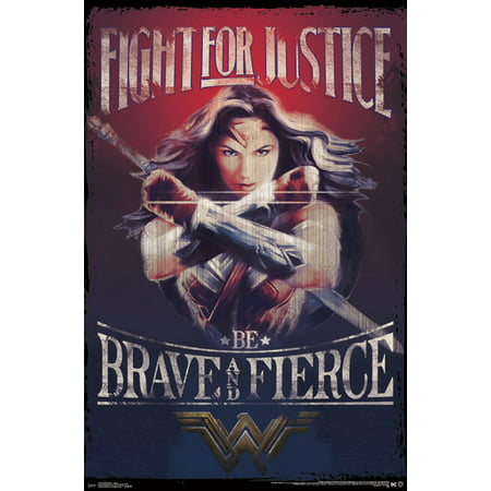 Trends International Wonder Woman Justice Wall Poster 22.375