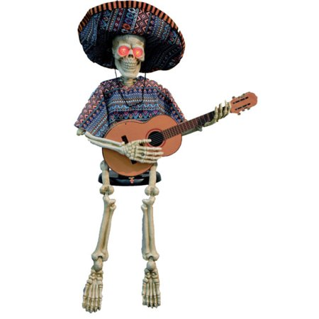 Skeleton Playing Guitar Halloween Accessory - Guitar Skeleton
