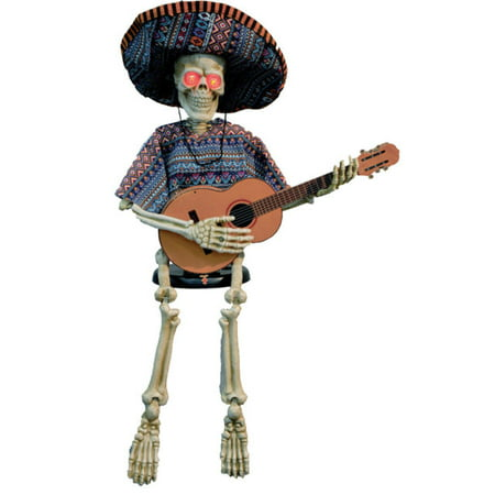 Skeleton Playing Guitar Halloween Accessory](Plastic Halloween Dog Skeleton)