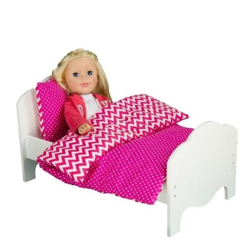 "Olivia's Little World Little Princess 18"" Doll Furniture Bedding Modern Chevron"
