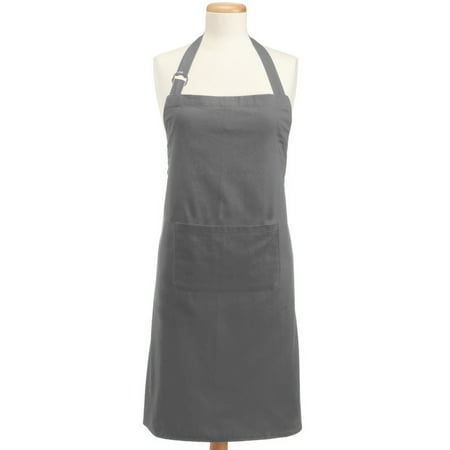 "DII Chino Chef Kitchen Apron, 32""x28"", 100% Cotton, Multiple Colors"