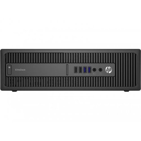 HP Business 800 G2 EliteDesk Mini Desktop PC with Intel Core i7-6700T Processor, 8GB Memory, 500GB Hard Drive and Windows 7 Professional (Monitor Not Included)