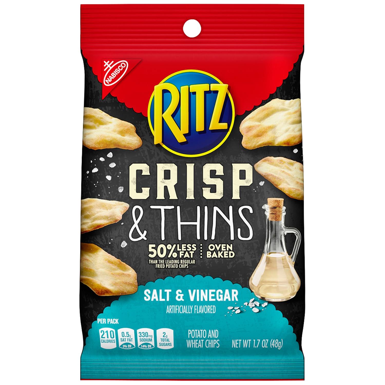 Nabisco Ritz Salt & Vinegar Crisp & Thins 1.7 oz. Bag