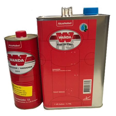 Wanda 8100 2K Polyurethane Clearcoat 500201, 1Gallon with