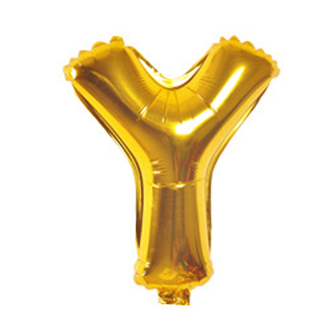 "Unique Bargains 40"" Gold Tone Foil Letter Y Balloon Helium Birthday Wedding Festival Decor"