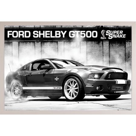 Ford Shelby GT500 Supersnake Poster in a White Plastic Frame (24x36 ...