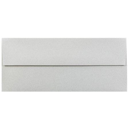 JAM Paper #10 Business Envelope, 4 1/8 x 9 1/2, Granite Recycled, 50/pack (10 Recycled Business Envelopes)