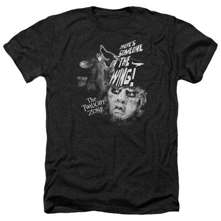 Twilight Zone Tv Series Cbs Someone On The Wing Adult Heather T Shirt Tee