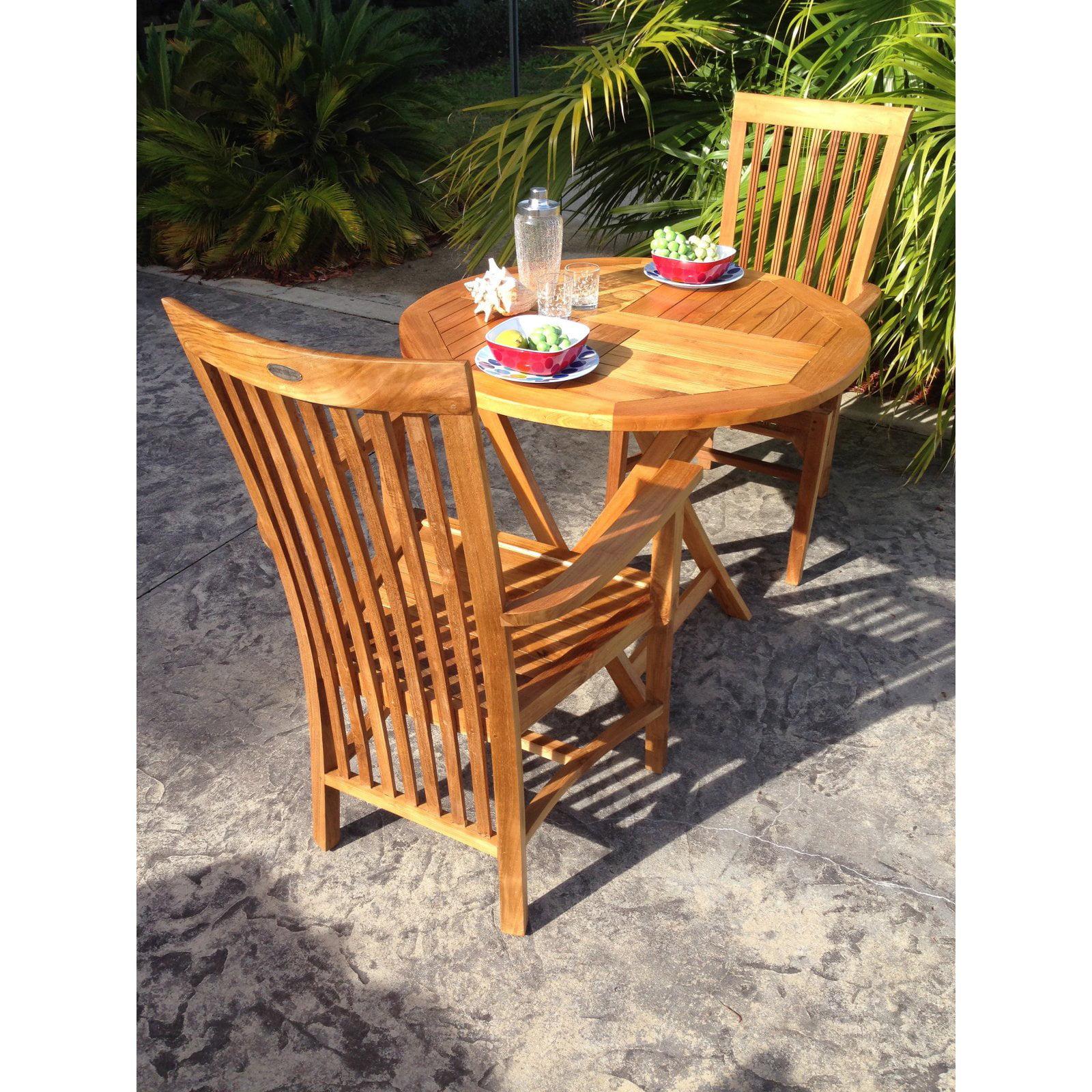 Chic Teak Balero Teak Patio Dining Armchair by