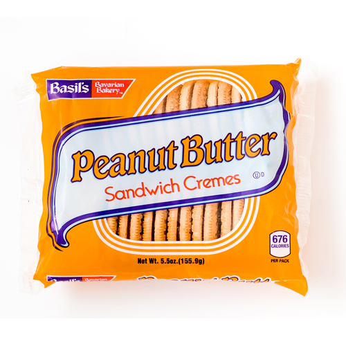 Basils, Peanut Butter Sandwich Cremes Cookie, 5.5 oz, 24 Ct