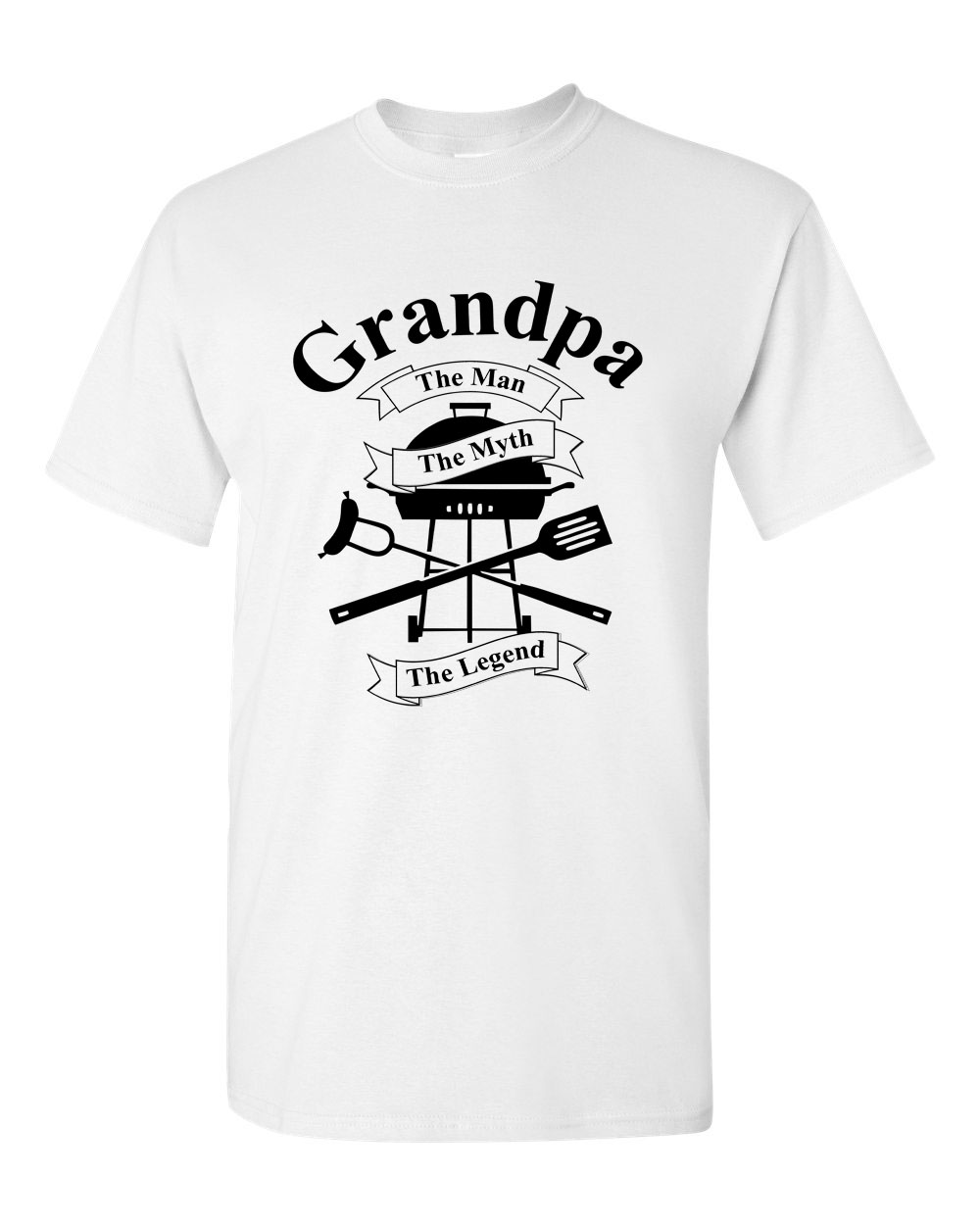 Grandpa The Man The Myth The Legend Barbeque BBQ Men's T Shirts Sizes S - 3XL