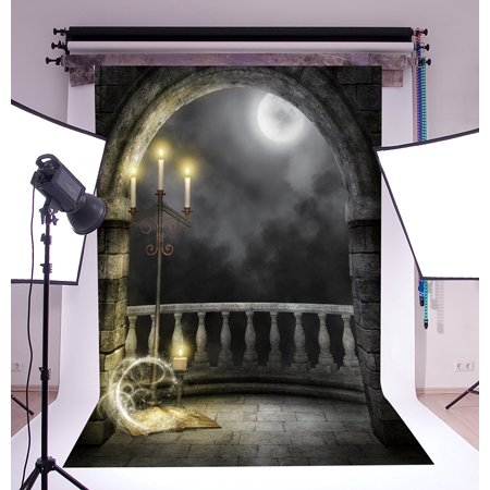 GreenDecor Polyster 5x7ft Halloween Horror Nights Moon Fantasy Castle Costume Party Masquerade Series Photo Backdrops Studio Background Studio Props - Masquerade Backdrop