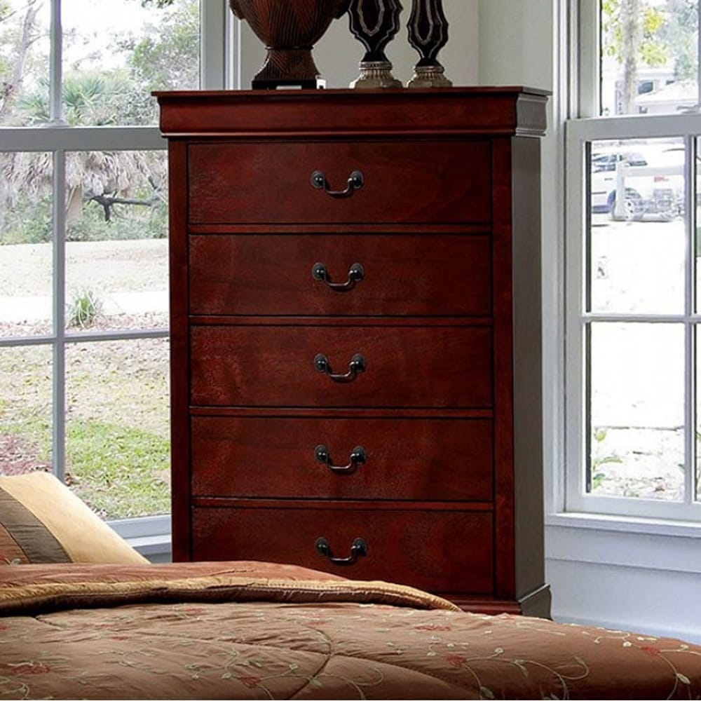 Louis Philippe Iii Contemporary Chest, Cherry
