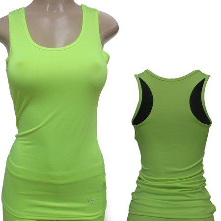 New Womens Racerback Tank Stretch Tee Top Yoga Cami Tee Sports Training Athletic