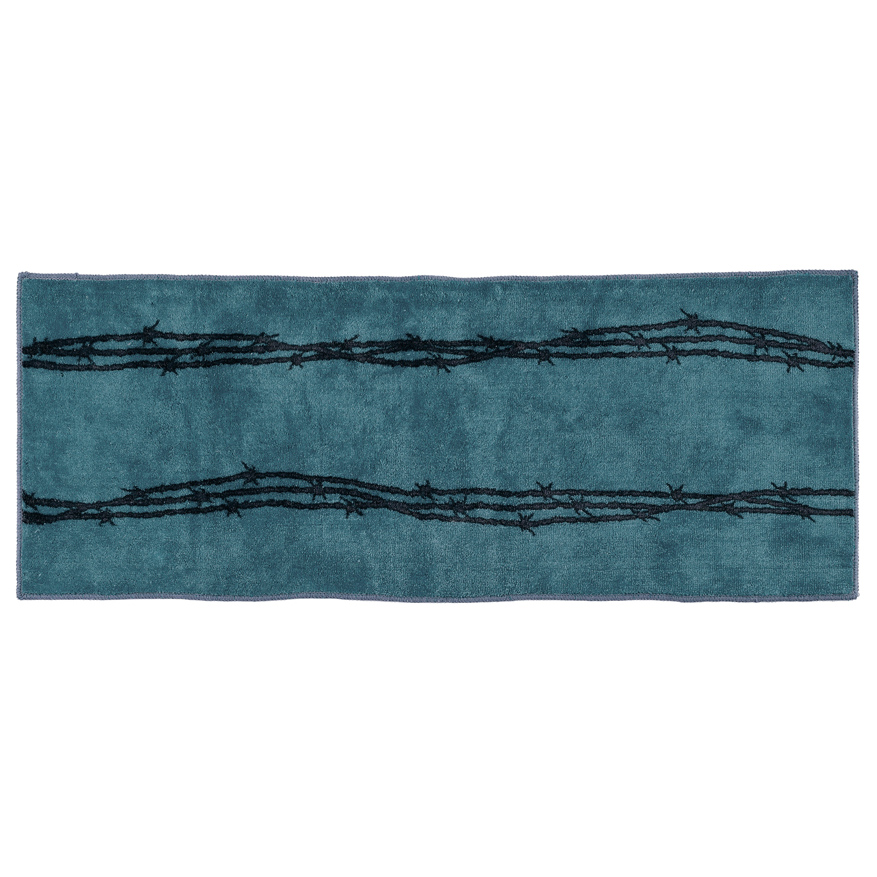 Barbed Wire Bath Western Runner - Turquoise - Southwestern Bath Accessories