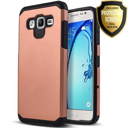 - Samsung Galaxy J7 Neo J701M Case, Galaxy J7 Nxt J701F / J7 Core J701 Case, With [HD Protector], Heavy Duty Drop Protection Dual Layers Impact Advanced Rugged Protective Slim Fit Phone Cover-Rose Gold