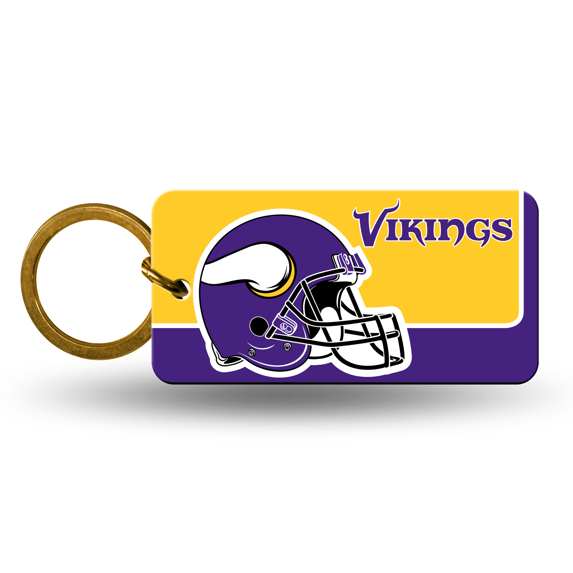 Minnesota Vikings Official NFL 2 inch  Crystal View Key Chain Keychain by Rico Industries