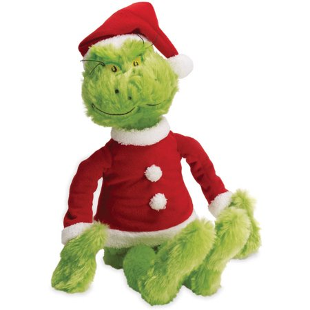 Manhattan Toy Dr. Seuss The Grinch in Santa Suit Soft Toy - Halloween Grinch Cartoon