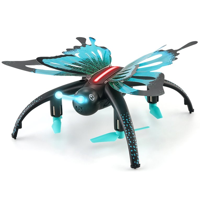 Blue H42Wh Butterfly Shaped 480P Rc Quadcopter Wifi Remot...