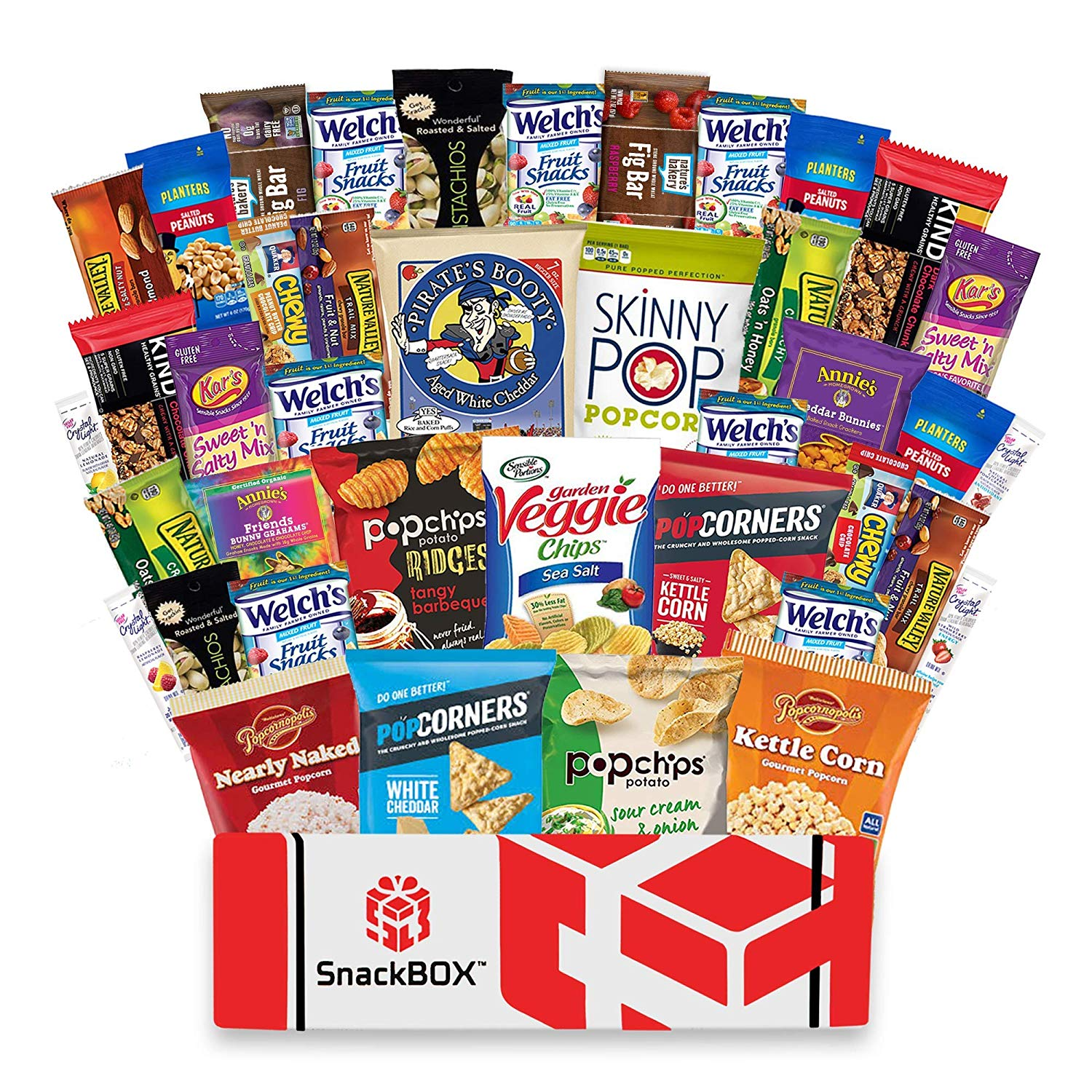 Healthy Snacks Care Package For College, Dorms, Military, Student, School, Camp, and Office | Gift Basket By SnackBOX  (40 Count)