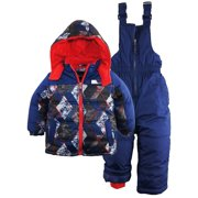 iXtreme Little Boys' CB Insulated 2Pc Snowsuit Puffer Jacket Ski Bib Pant Set
