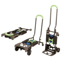 New Cosco Shifter Multi-Position Heavy Duty Folding Hand Truck and Dolly, Green