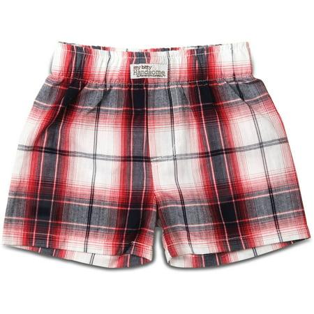 Pavilion-  Red Plaid Baby Shorts (6-12 Months)](Plaid Madras Shorts)