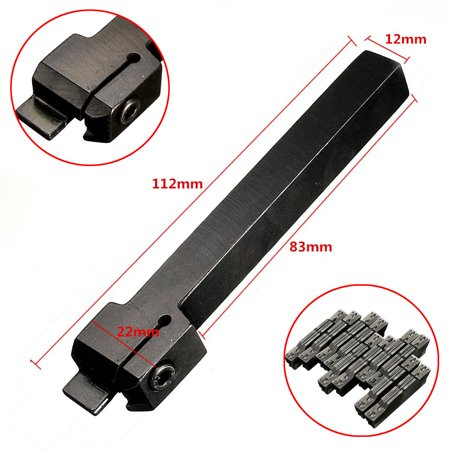 MGEHR1212-3 12x100 Lathe Cut-Off Grooving Tool Holder With 10pcs MGMN300 Inserts - image 7 de 7