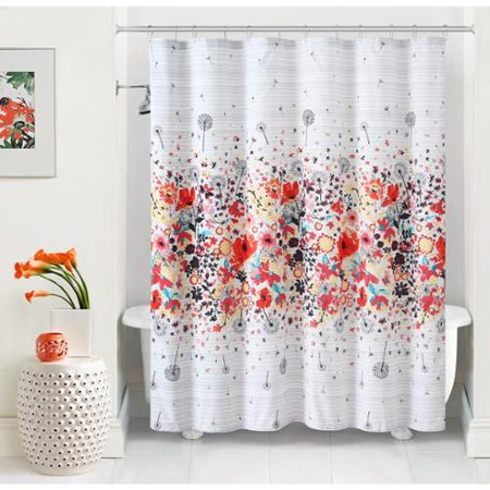 VCNY Magnolia Vibrant Floral Shower Curtain