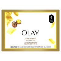 Olay Moisture Outlast Ultra Moisture Shea Butter Beauty Bar 3.17 oz, 4 count