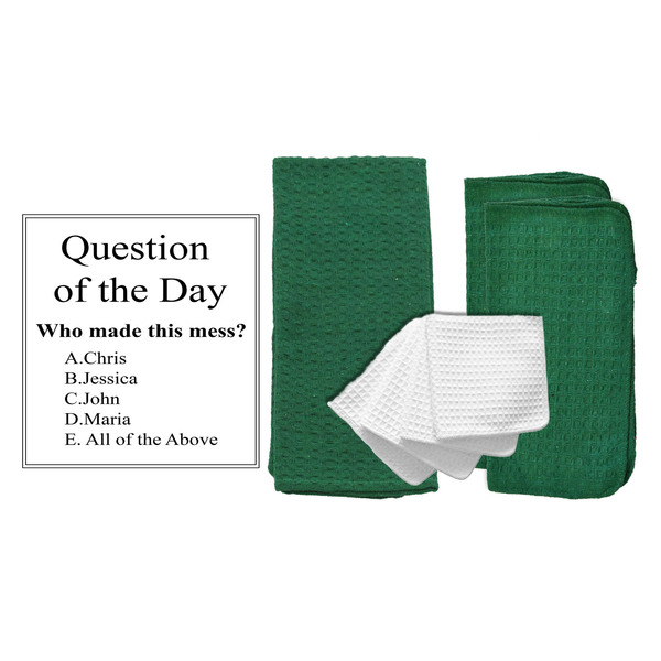 "Personalized ""Question of the Day"" 8 Piece Dish Towel Set"