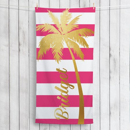 Gold Palm Tree Personalized Summertime Beach