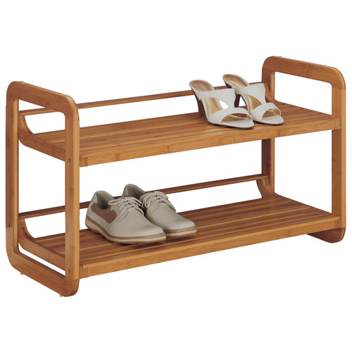 Organize It All 2 Tier Stackable Shoe Rack
