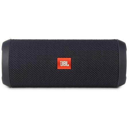 JBLB Flip 3 Splashproof Portable Rechargeable Bluetooth Wireless Speaker with Echo Cancelling Speakerphone, Black (Open Box - Like New)