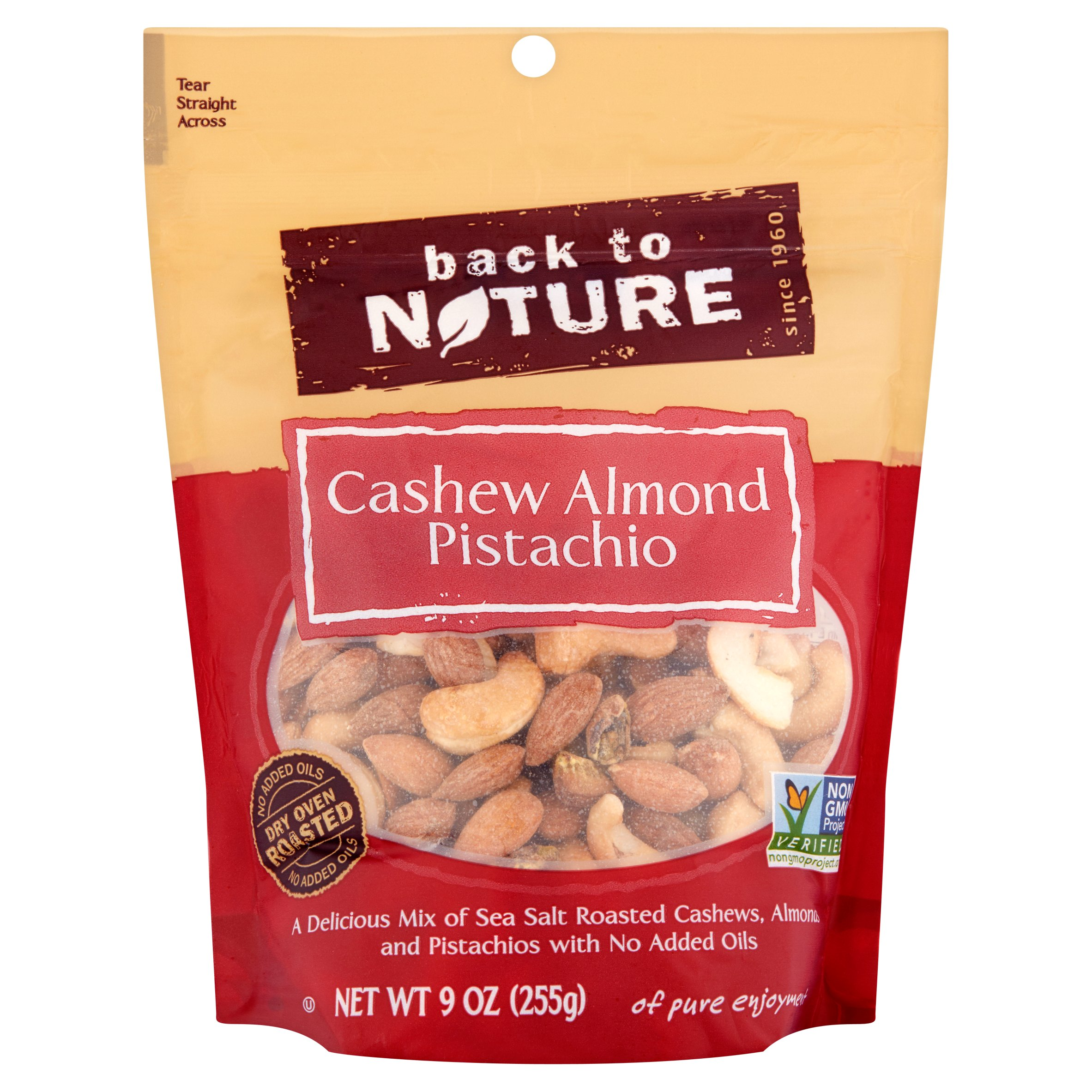 Back to Nature Cashew Almond Pistachio 9 oz by Back to Nature Foods Co., LLC
