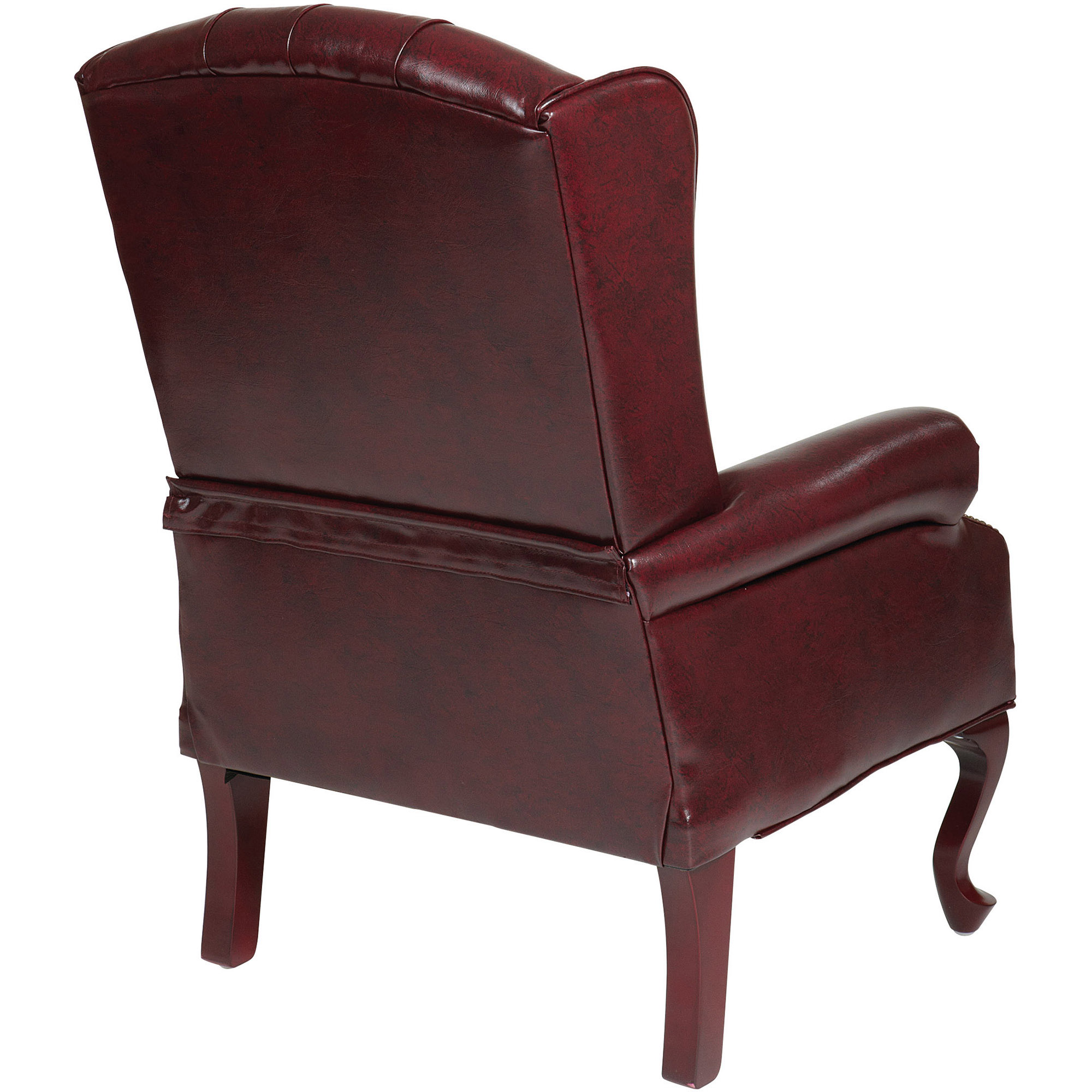 Work Smart Traditional Queen Anne Style Chair Mahogany Walmart