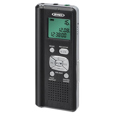 JENSEN DR-115 4GB Digital Voice Recorder with microSD Card (Best Voice Recorder For Android)
