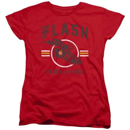 Womens: The Flash- Track & Field Logo Apparel Womens T-Shirts - (Womens Flash)