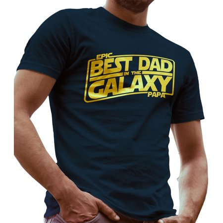 Best Dad in the Galaxy Star Wars Father day Gift by LeRage Shirts MEN'S Navy