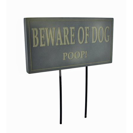 Funny Beware of Dog Poop Lawn/Garden Stake Sign Post Slate - image 1 of 3