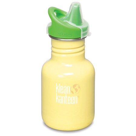Lifefactory Sippy Cap (Klean Kanteen Stainless Steel 12oz Kid Kanteen Water Bottle with Sippy Cap - Yellow Sunshine )