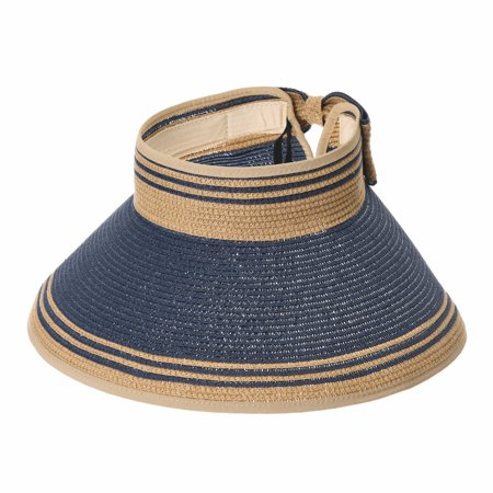 b64c128e31e WITHMOONS Womens Summer Sun Visor Packable Roll-Up Beach Hat SLV1033 ...