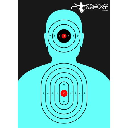 100 Pack - Blue Silhouette Targets - 90 Off Halloween Target