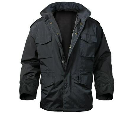 (Black Nylon M-65 Storm Jacket, Medium)