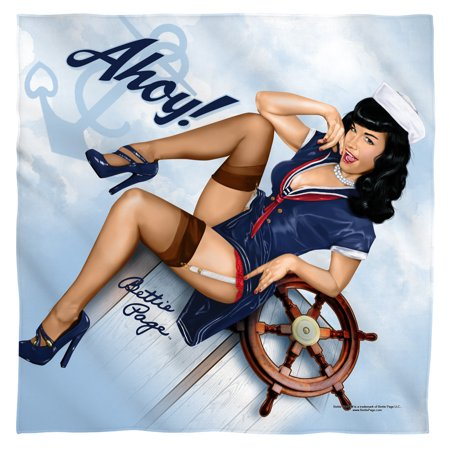 Bettie Page Lacy Pin Up Pose Model Famous Icon Ahoy Bandana