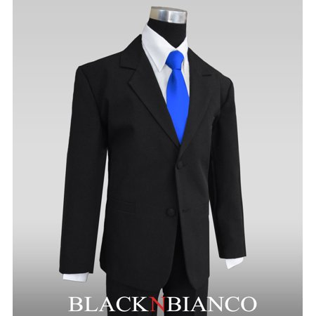 Black N Bianco Boys' Formal Black Suit with Shirt and - Black Boys Suits