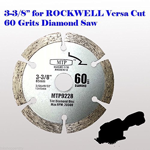 "3x 3-3//8/"" Metal//Wood Saw Blade for ROCKWELL VersaCut RK3440K Nextec Craftsman"