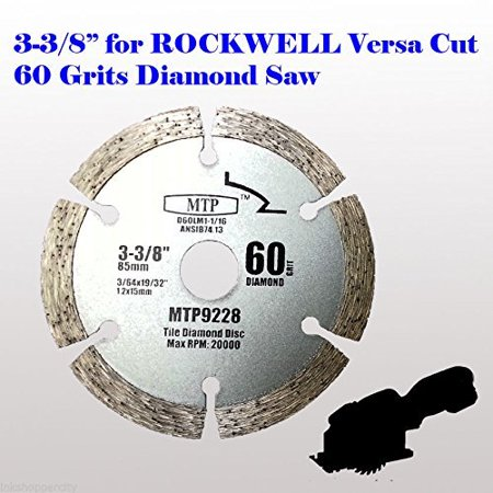 - MTP ® Pack of 1/3/7 ,  60 Grits 3-3/8-inch Diamond Circular Saw Blade for Rockwell Versacut Versa Cut RK3440K, Makita Cordless 3-3/8