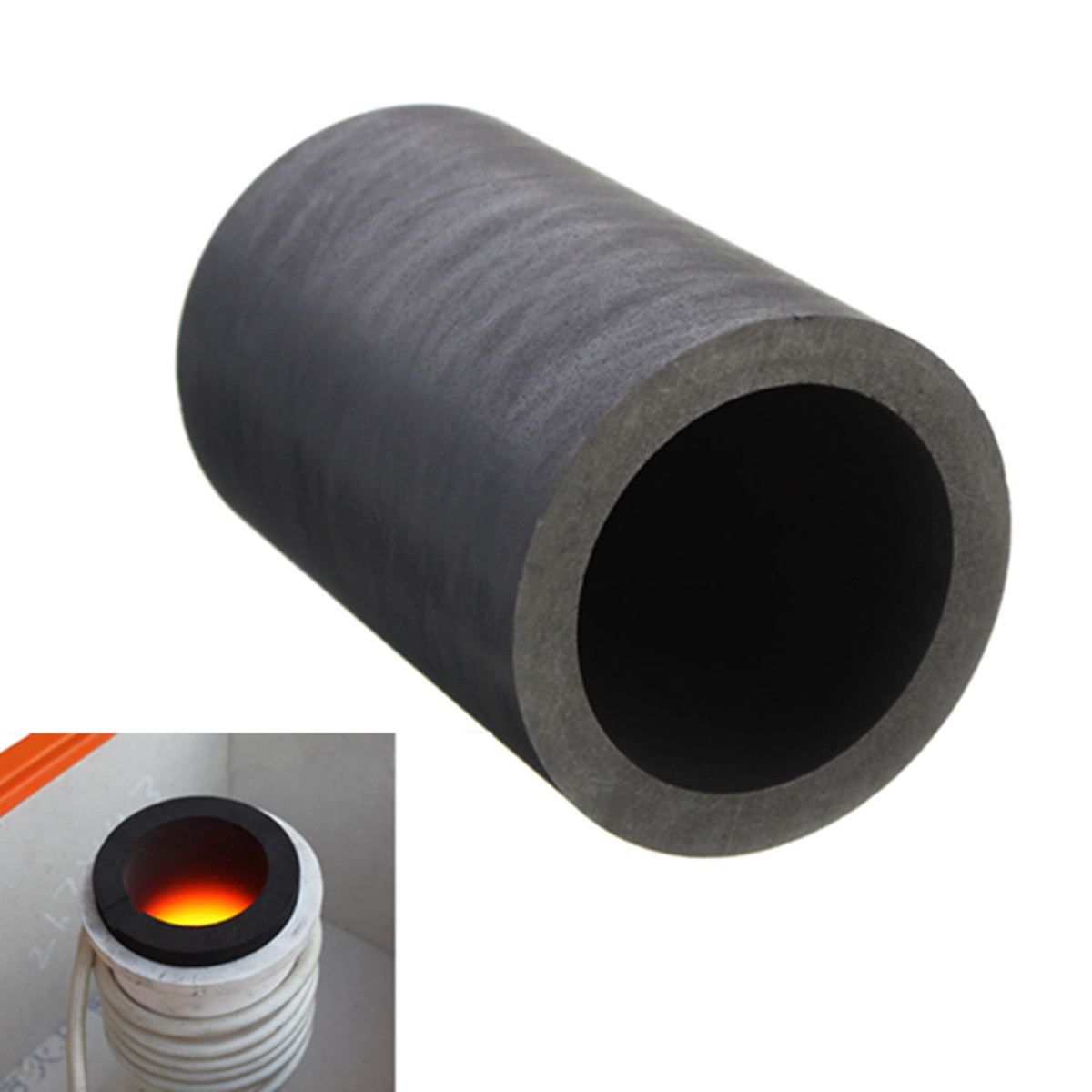 6 Size Pure Graphite Crucible Cup Propane Torch Melting Gold Silver Copper Metal